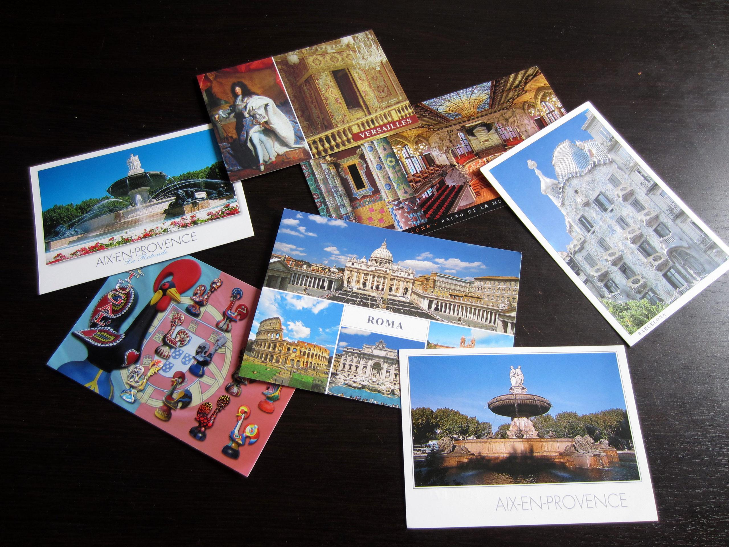 Posílání pohlednic